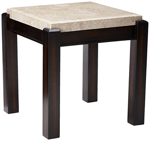 247SHOPATHOME IDF-4823E End-Tables, Ivory End (Ivory Marble Top)