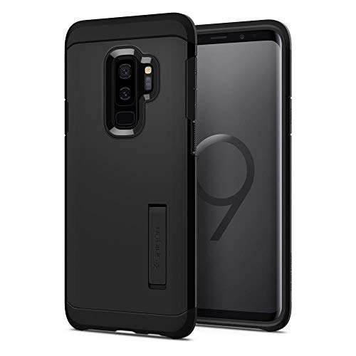 Spigen Tough Armor Galaxy S9 Plus Case Reinforced Kickstand Heavy Duty Protection Air Cushion Technology Samsung Galaxy S9 Plus (2018) - Black