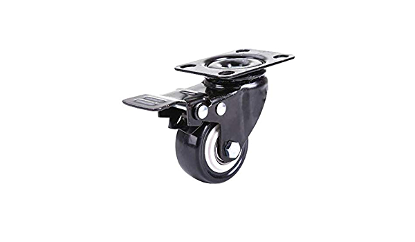 Color : Directional+Brake, Size : 2 inches Load 250kg MUMA 4pcs Castors Wheel 50MM Furniture Trolley Plate PU Swivel Casters with Brake