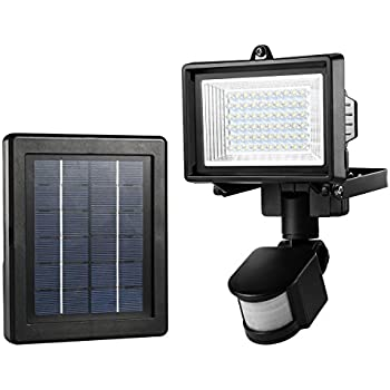 This Item LE Outdoor Solar Lights, Motion Sensor Light, Waterproof, High  Output 60 LED, Solar Security Light, Wall Light, Solar Rechargeable  Floodlight, ...