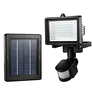 LE Outdoor Solar Lights  Motion Sensor Light  Waterproof  High Output 60 LED   Solar Security Light  Wall Light  Solar Rechargeable Floodlight  Solar PIR   LE Outdoor Solar Lights  Motion Sensor Light  Waterproof  High  . Outdoor Pir Led Security Lights. Home Design Ideas