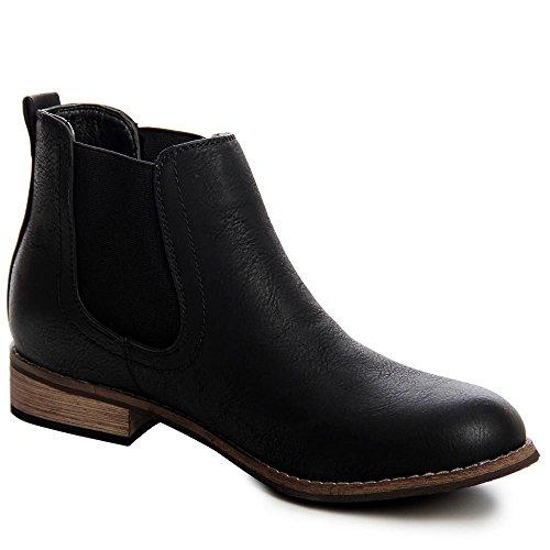 Femmes Topschuhe24 Chelsea Noir Bottines Boots 1ZqZadw