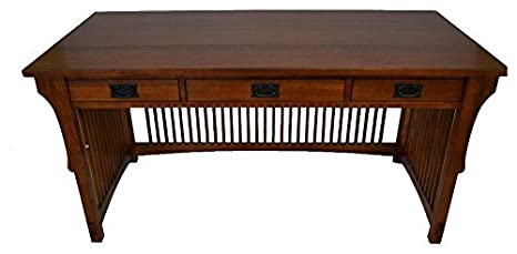 Amazon Com Crafters And Weavers Mission Solid Oak Library Table