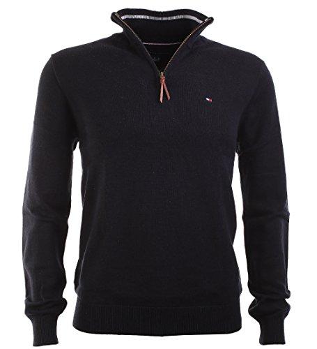 Tommy Hilfiger Herren Troyer Pullover schwarz Größe S