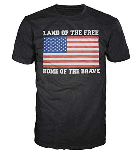 5 Star USA America Men's Graphic T-Shirt - American Flag, Patriotic, Vintage, Military, Americana Collection (Regular, Big and Tall Sizes)