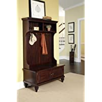 Home Styles 5542-49 Bermuda Hall Tree Stand, Espresso Finish