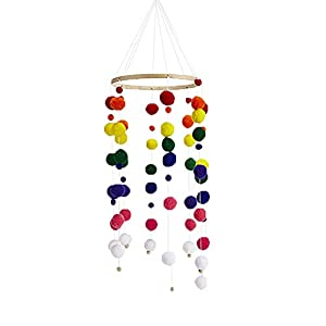 Baby Crib Mobile Bell Rattle Bed Toys Wooden Wind Chimes Room Hanging Cot Decor for Newborn Girl Boy Gifts Baby Rattles 2