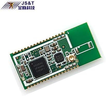 JINOU/OEM BLE5.0 - Módulo inalámbrico de transmisión de Datos a Distancia, 100 m, Bluetooth, NRF52832, con Antena Externa Clase 1 para Impresora Bluetooth, Deportes, casa Inteligente, Equipo médico