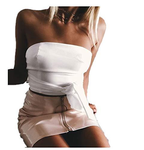 Ebay Leather Skirt - Cyose Fashion Women High Waist Zip Faux Leather Short Pencil Bodycon Mini Skirt Solid White Skirt Pink XL