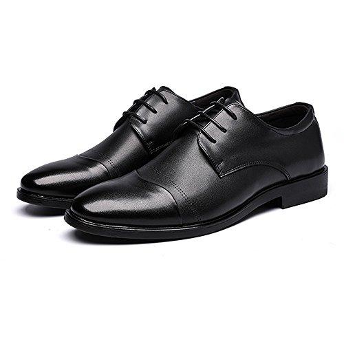 Cuir Semelle Pour Pour Appartements Conception Couture Souple Messieurs Pu y Noirs Chaussures Achats Hommes En Orteil Mollo Chaussures En De Allez De Cuir Fermée XqTzf1