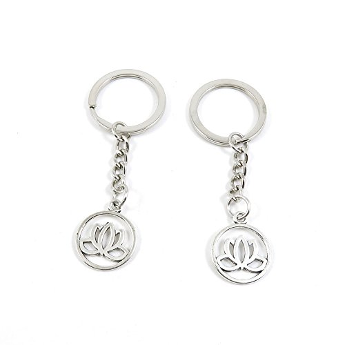 1 Pieces Keyring Keychain Keytag Key Ring Chain Tag Door Car Wholesale Jewelry Making Charms X7VJ2 Lotus - Lotus Tag