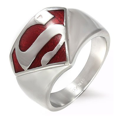 Superman Logo Ring Size 9 Stainless Steel Smssrg20 Buy