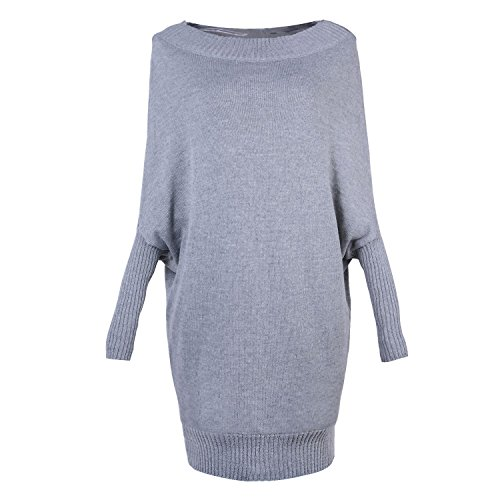 Longue Manche Couleur Six ASSKDAN Sweater Oversize Gris Robe Automne Hiver Femme Sexy Pull qwYHO0