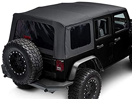 Jeep Wrangler Soft Top >> Amazon Com Trushield Replacement Soft Top With Tinted