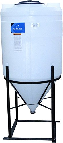 110 Gallon Full Drain Cone Bottom Inductor Tank with Steel Stand