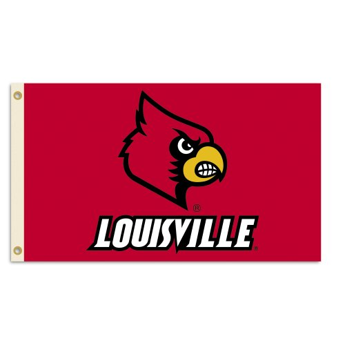 NCAA Louisville Cardinals 3-by-5 Foot Flag With Grommets