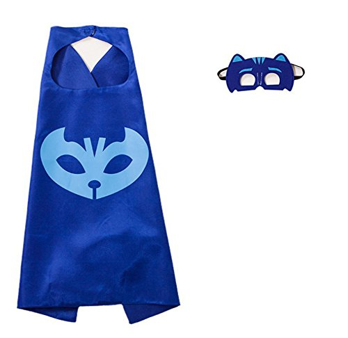 RioRand Kids Dress up Costumes Cartoon Capes with Masks for Boys Girls 3-Pack