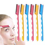 FITDON Eyebrow Razor, Eyebrow Trimmer Shaper for Women, Multipurpose Exfoliating Face Hair Removal and Brow Grooming Shaver (6PCS)
