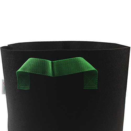 Casolly Grow Bag/Aeration Fabric Plant Pots with Green Handles for Plants,15-Gallon 6-Bag by Casolly (Image #4)
