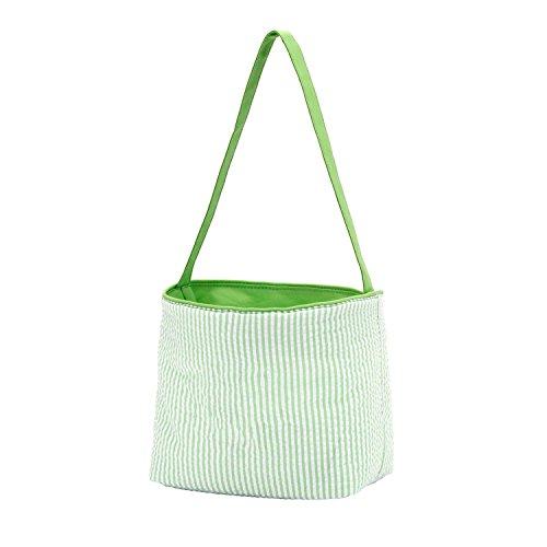 Top Quality Easter Bucket Seersucker Fabric Easter Basket Green