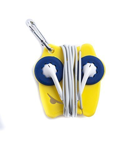 Grapperz Earbud Holder / Protector / Cord Wrap - Maize & Blue