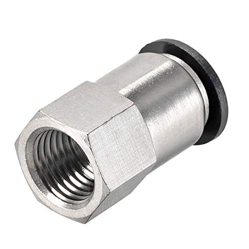 Push to Connect Tube Mount Adapter 10mm OD X 1//4 NPT Tube Female Straight Pneumatic Connector Pipe Connector