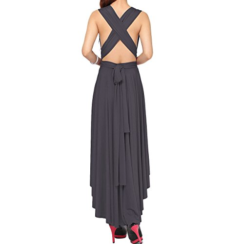 Wrap Floor Women Dress High Maxi Transformer Low High Way Halter Evening Long Convertible Elasticity Multi Dress Grey Infinity Deep BnACByqwR
