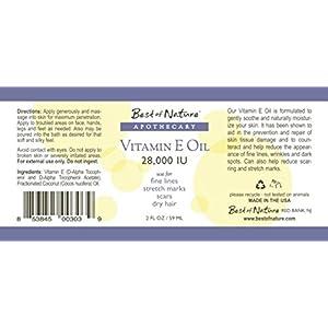 Vitamin E Oil - 28,000 IU - 100% Pure & Natural