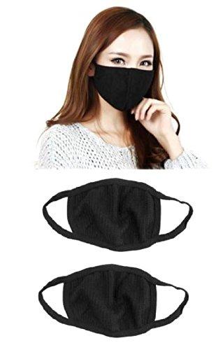 99c091eecec Outofbox Anti-Pollution Dust Cotton Unisex Mouth Mask(Set Of 2) Black