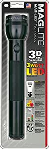 Maglite LED 3-Cell D Flashlight, Black