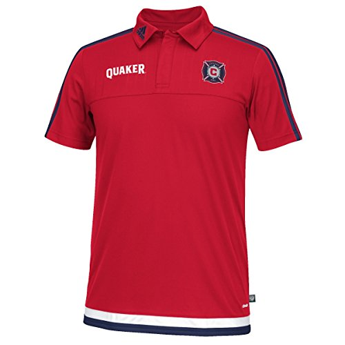 Chicago Fire Adidas MLS Climacool Authenic On Field Polo Shirt
