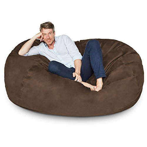Lumaland Luxury 6 Foot Bean Bag Chair With Microsuede