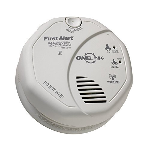 First Alert SCO500B Interconnected Wireless Battery Combination Smoke CO Voice (Wireless Detector Network)