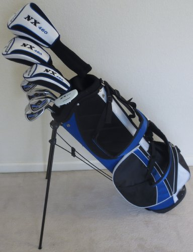Mens Golf Club Set Driver, Fairway Wood, Hybrid, Irons, Sand Wedge, Putter & Stand Bag Right Handed by Precision Performance For Golf