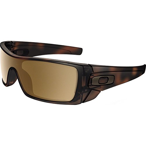 Oakley Men's Batwolf Non-Polarized Iridium Rectangular Sunglasses, Matte Brown Tortoise, 27 - Oakly Batwolf