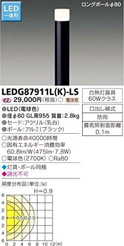 東芝ライテック ガーデンライト LEDG87911L(K)-LS B01H3IMTLE 13154