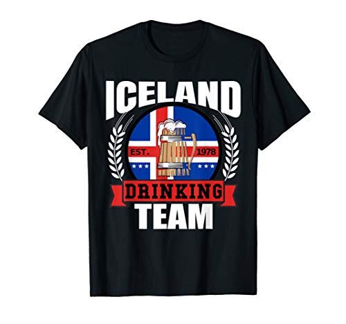 (Iceland Drinking Team Funny Icelandic Flag Beer Party Gift T-Shirt )