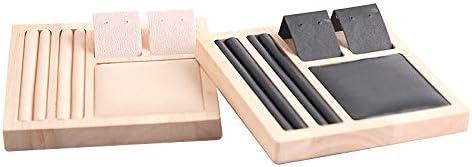 Bigpea Multifonction Le Pr/éSentoir de Bijoux Bague Collier Bracelet Boucle doreille Pendentifs Plateau DAffichage Porte-Organisateur Vitrine Blanc