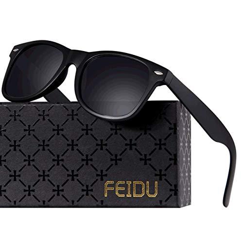 Polarized Sunglasses for Men Retro - FEIDU Polarized Retro Sunglasses for Men FD2149 (black-matte)