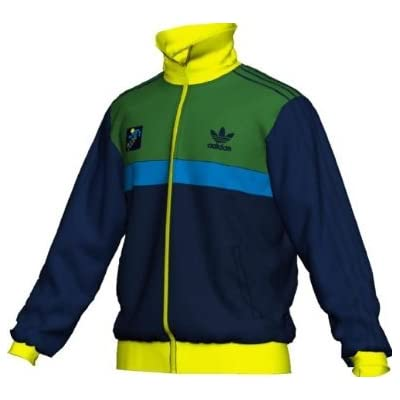 Adidas Sports Football Men`s Track Jacket - Dark Indigo / Deep Grass
