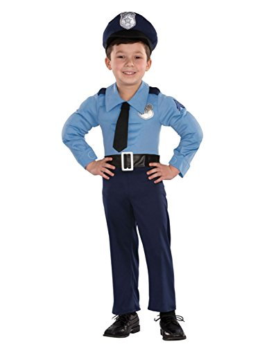 Infant Boys Policeman Muscle Costume Police Officer Uniform