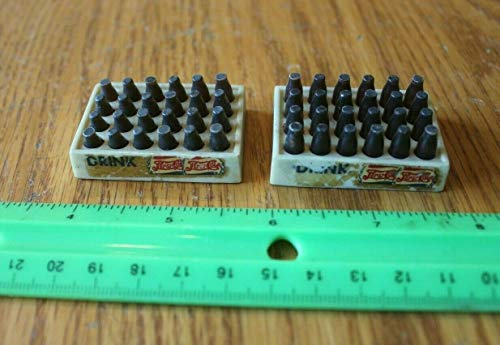 (Mini Pepsi Cola Drink Soda bottles in shipping crates vintage toy for doll)