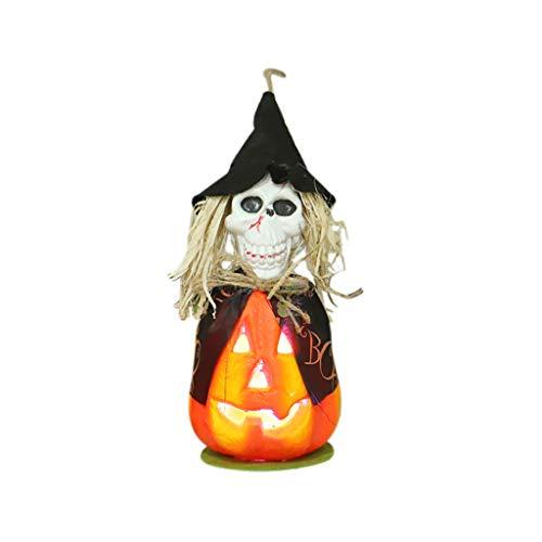 Halloween Decoration DOOIOR Hollow Glowing Pumpkin Light Halloween LED Light Decor Props Skull lamp Party]()