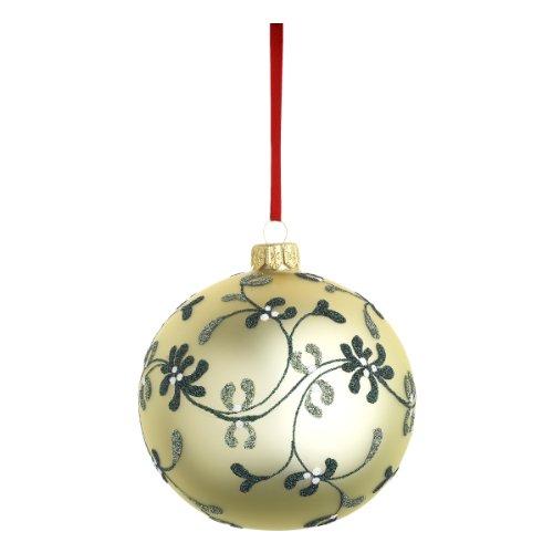 Reed & Barton C3978 Mistletoe Lace Ball, - Glass Barton Ornaments Blown