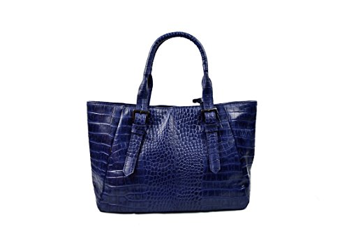 Leather 2x10 blue Size 14 Shoulderbag for Women IN Women Shoulderbag Blue Navy Shoulderbag Zerimar Casual 1 in Colour Vintage Shoulderbag 6x5 Navy dq7n6Zd