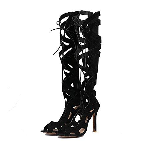 super europee bocca pesce stivali sono gli ed sexy stivali sandali high 41 black di freddo le americane donne fighi nCwpXxPq8X