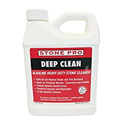 Stone Pro Deep Clean - Alkaline Heavy Duty Stone Cleaner Concentrate - 1 Quart