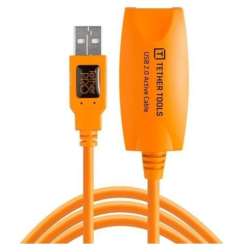Tether Tools Pro 65' USB 2.0 Active Extension Cable, High-Visibility Orange by Tether Tools