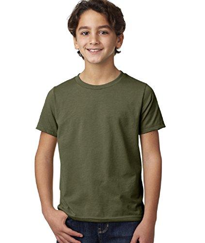 - Next Level Big Boy's Crewneck Shrinkage Gorgeous T-Shirt, Large, Military Green