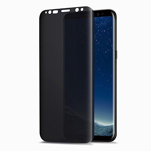 TECHO Privacy Screen Protector for Samsung Galaxy S8 Plus, Anti Spy 9H Tempered Glass [Case-Friendly] [Anti-Fingerprint] [Bubble Free] [Anti-Scratch]